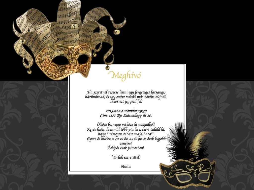 Privát parti meghívók